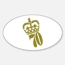 70th Birthday Oval Decal