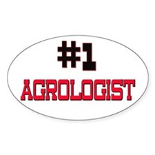 Number 1 AGROLOGIST Oval Decal
