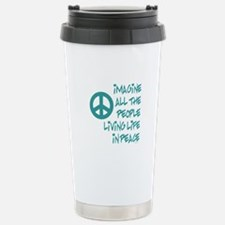 Imagine Peace Stainless Steel Travel Mug