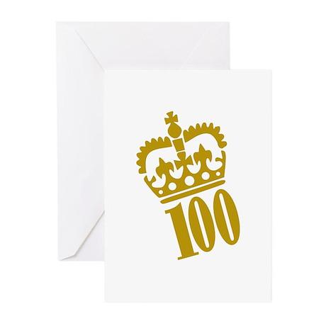 100th Birthday Greeting Cards (Pk of 20)