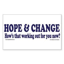 Hows that HOPE and Change Wor Rectangle Decal