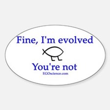 Evolution 1 Oval Decal