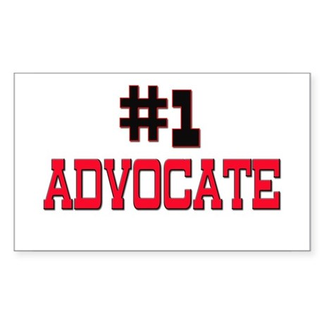 Number 1 ADVOCATE Rectangle Sticker