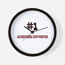 Number 1 ADVERTISING COPYWRITER Wall Clock