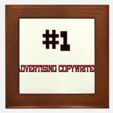 Number 1 ADVERTISING COPYWRITER Framed Tile
