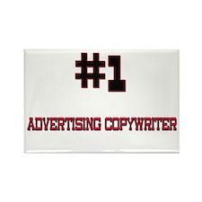 Number 1 ADVERTISING COPYWRITER Rectangle Magnet