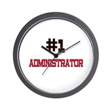 Number 1 ADMINISTRATOR Wall Clock