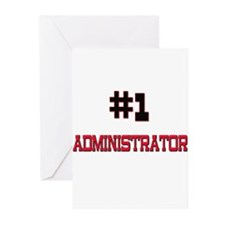 Number 1 ADMINISTRATOR Greeting Cards (Pk of 10)