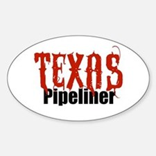 Texas Pipeliner Oval Decal
