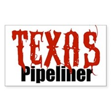 Texas Pipeliner Rectangle Bumper Stickers