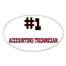 Number 1 ACCOUNTING TECHNICIAN Oval Decal