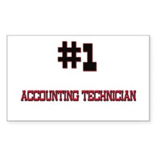 Number 1 ACCOUNTING TECHNICIAN Rectangle Decal