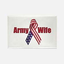 Army Wife (RWB Ribbon) Rectangle Magnet