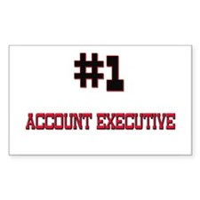 Number 1 ACCOUNT EXECUTIVE Rectangle Decal