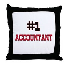Number 1 ACCOUNTANT Throw Pillow
