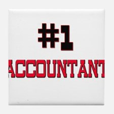 Number 1 ACCOUNTANT Tile Coaster