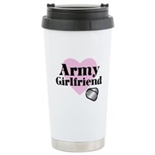 Army Girlfriend (pink heart) Travel Mug