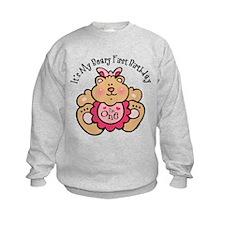 Beary 1st Birthday Girl Sweatshirt