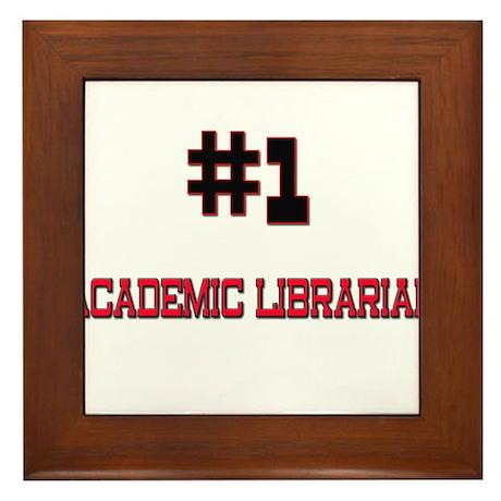 Number 1 ACADEMIC LIBRARIAN Framed Tile