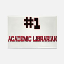Number 1 ACADEMIC LIBRARIAN Rectangle Magnet