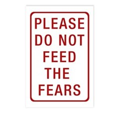 Please Do Not Feed the Fears Postcards (Package of