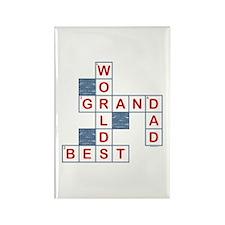 Crossword Grandpa Rectangle Magnet