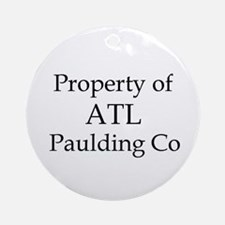 Property of ATL Paulding Co Ornament (Round)