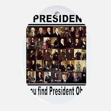 Anti Barack Obama Oval Ornament