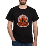 VINTAGE STRENGTH FLAMES Black T-Shirt