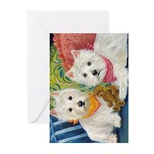 WESTIE LET A WESTIE RESCUE YOU! Greeting Cards (Pk