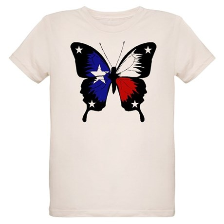 Texas Butterfly Organic Kids T-Shirt