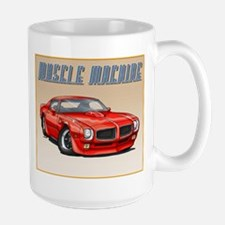 70-73 Red Trans Am Large Mug