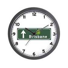 Brisbane, Australia Hwy Sign Wall Clock