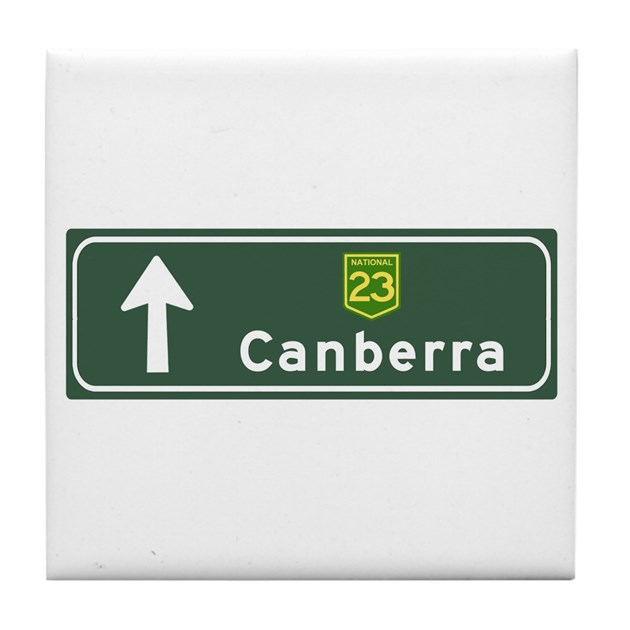 Baby Gifts Canberra Australia : Canberra australia hwy sign tile coaster by worldofsigns