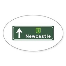 Newcastle, Australia Hwy Sign Oval Decal