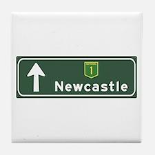 Newcastle, Australia Hwy Sign Tile Coaster