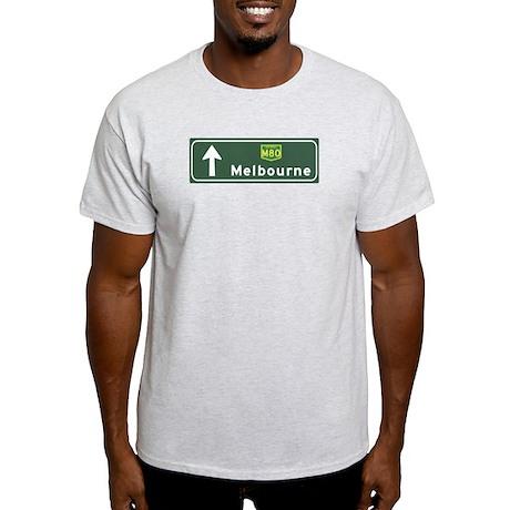 Melbourne, Australia Hwy Sign Light T-Shirt