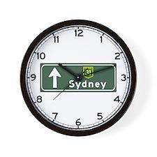 Sydney, Australia Hwy Sign Wall Clock