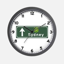 Sydney, Australia Hwy Sign Wall Clock