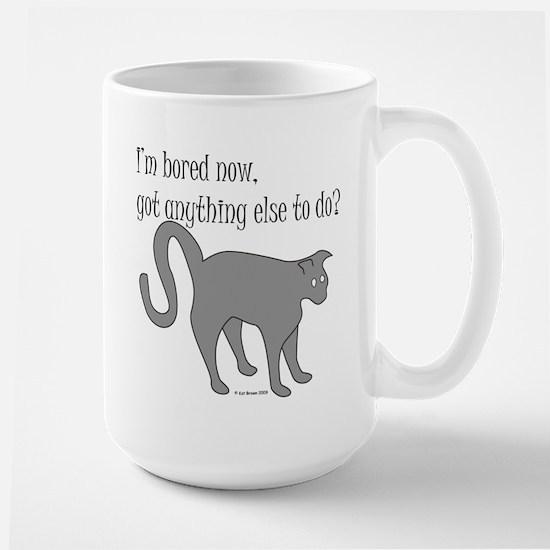 Bored Cat Large Mug