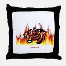 Tiger Fire Throw Pillow