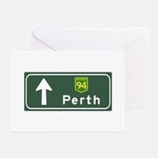 Perth, Australia Hwy Sign Greeting Cards (Pk of 10