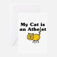 My Cat Is An Atheist Greeting Card