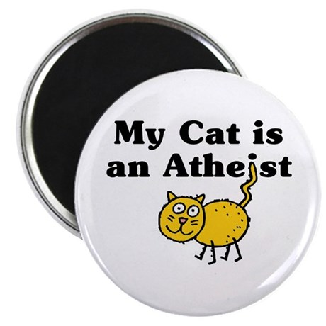 "My Cat Is An Atheist 2.25"" Magnet (100 pack)"