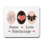 Peace Love Psychology Psychologist Mousepad