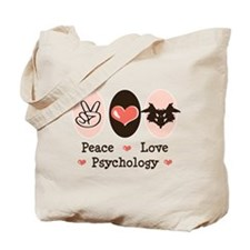 Peace Love Psychology Tote Bag