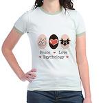 Peace Love Psychology Jr. Ringer T-Shirt