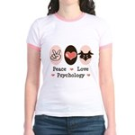 Peace Love Psychology Psychologist Jr. Ringer Tee