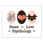 Peace Love Psychology Small Poster