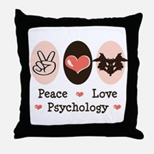 Peace Love Psychology Throw Pillow